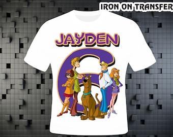 Scooby Doo, Iron On Transfer DIY ,Scooby Doo DIY Birthday Shirt , Personalize Digital Design , Iron On Transfer , Digital File
