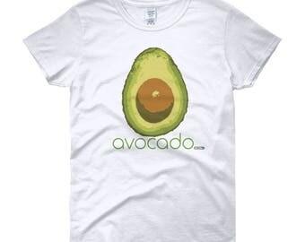 Avocado T-Shirt - Womens - Foodie - Chef - Organic