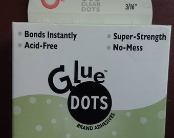 Glue Dots minis brand adhesives New in box