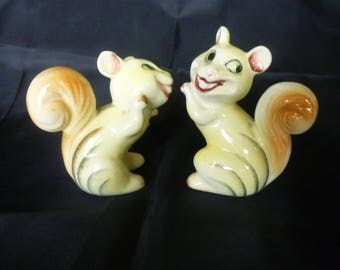 Vintage Squirrel Salt and Pepper Shakers made Japan