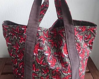 "Wax Tote reversible way ""Vanessa Bruno"" - Wax - Tote bag bag - handmade in Paris"