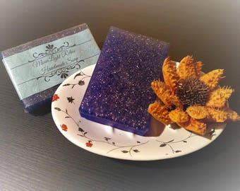 MoonLight Relax Handmade Soap with Vanilla Flavor and Galaxy Effects