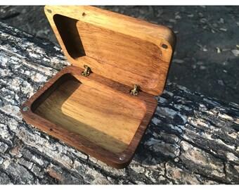 Natural Massive Wooden Cigarette Box
