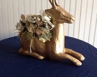 Golden Reindeer Flower Arrangement