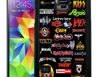 80s Rock Music Rubber Case For Samsung Note 3, Note 4, Note 5, or Note 8