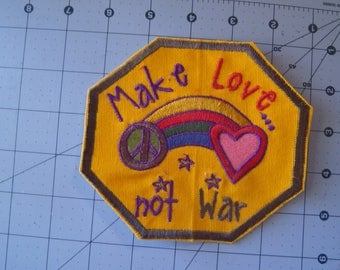 Make Love Not War Patch 5 inches x 5 inches