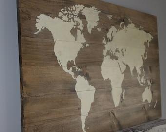 World Atlas Wall Art
