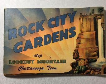 Rock City Gardens Lookout Mountain The Enchanted Trail Chattanooga Tennessee Vintage Tourist Booklet Colorful Graphics