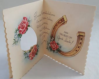 Congratulations Greeting Card Unused/Unmarked Numbered Vintage Mid-Century