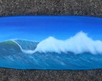 """Decorative surfboard- """"Crashing Wave"""""""