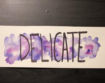 Watercolor Taylor Swift Reputation Lyrics