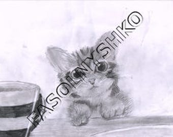 Kitty, A Kitten with a Mug, Graphic