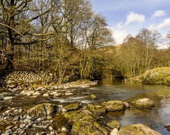 River Brathay flowing into Grasmere