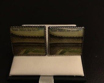 Penny Black 40 Yankee Stadium Authentic US postage Stamp Cufflinks