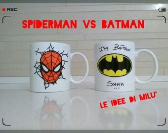 Personalized mugs for Kids-Spiderman/Batman