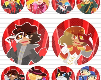 "Persona 5: 1.5"" Buttons"