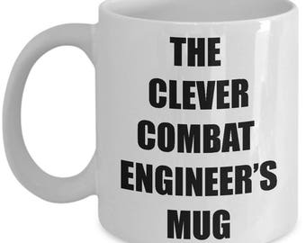 Clever Combat Engineer Mug - Coffee Cup Gift Present for Combat Engineers