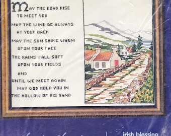 Counted Cross Stitch Kit:  Irish Blessing, May the Road Rise to Meet You