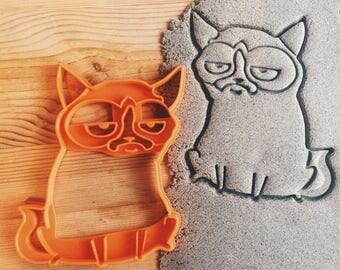 Grumpy Cat Cookie Cutter