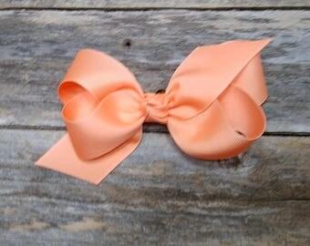 Apricot  Medium Bow/ Apricot Small Bow