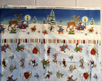 Winter Parade Christmas fabric made for Benartex BTY
