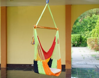 Multicolor Hammock Chair For Patio Or Garden Decor