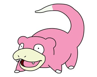 Slowpoke Playmat Mouse Pad 24 x 14 inches Yugioh Magic the Gathering Pokemon HD Prints Made in USA