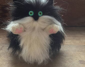 Cat,Felted cat,Moggy,Cat decoration,wool cat,Hairy cat