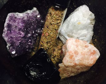 Earth, Air, Fire, Water Crystal Set