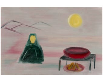 Shiite Woman with Boiling Pot