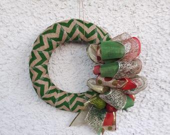 Shabby chic handmade Christmas Wreath