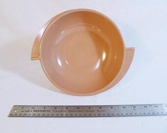 Vintage Boontonware serving dish, rare soft rose color // Boonton Belle // Melmac melamine // winged handles // mid century  // atomic