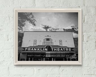 Downtown Franklin Theater Photo Print