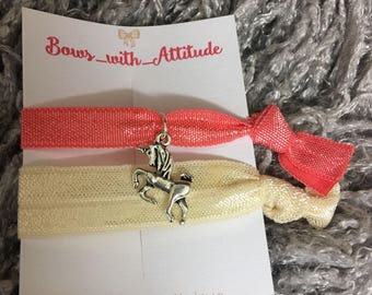 Hair ties/elastic hair ties/ unicorn and memaid hair ties/ hair accessories