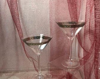 CURRENTLY ON SALE Pair of Martini Glasses