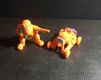 Lot of 2 Vintage 1980's Hasbro ARMY ANTS Orange Action Figures Vintage 80's Nostalgia