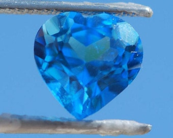 Blue Topaz, Faceted Heart, 10mm x 10mm, Excellent Cut and Polish, 4.35 ct.