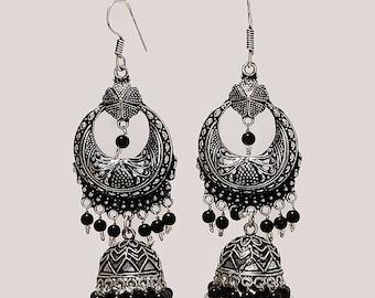 0xied jewellery silver jewellery traditional jewellry long dangal earrrings