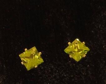 Peridot Earrings Natural