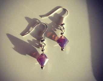Swarovski Purple Earrings