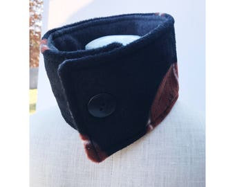 Football print neck warmer