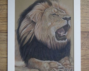 CECIL THE LION original artwork by Tracey Bryant