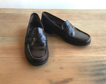Vintage Leather Penny Loafers Shoes Size 5 By GH Bass Weejuns