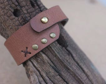 Bracelet Leather Jewelry Bracelets Cuff Bracelets color Brown And brass material gift Boho Leather Bracelet Genuine Leather