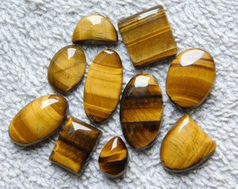 Rare ! Awesome Tiger gemstone Cabochons Tiger Excellent cabochons Designer Amazing loose gemstone 100% Natural 195.00cts, 10 Pieces.