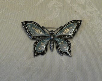 Catherine Popesco Enamel Butterfly Brooch