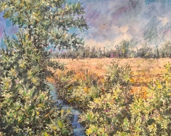 Milan countryside - Landscape - oil on canvas - painting - handmade - Milan landscape oil on canvas