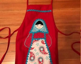 Child's Russian Matryoshka Doll Apron Christmas Gift