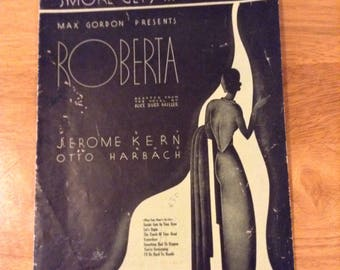 Vintage Sheet Music From Roberta Smoke Gets In Your Eyes