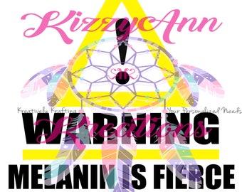 WARNING MELANIN SVG File, Cameo, Cricut, Print and Cut, Gifts, Silhouette, Cutting Machine,Black Girl,